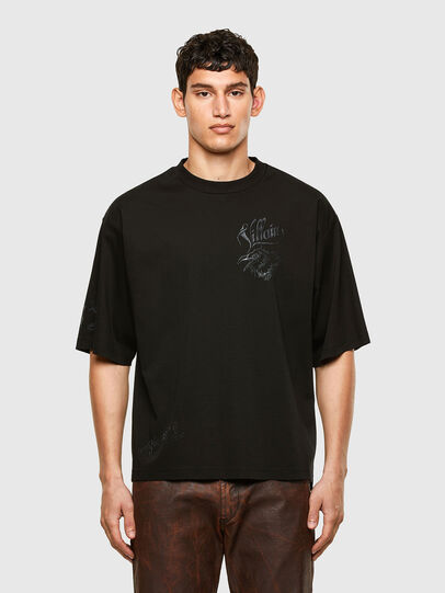 Diesel - T-DELPHI-SLITS-A1, Black - T-Shirts - Image 1