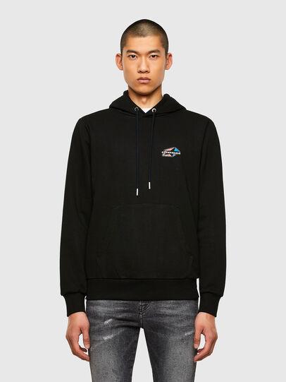 Diesel - S-GIRK-HOOD-K22, Black - Sweatshirts - Image 1
