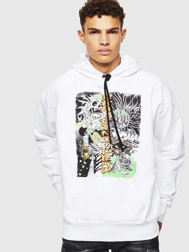 S-ALBY-D1, White - Sweatshirts