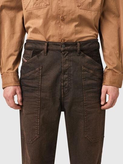 Diesel - D-Franky Straight Jeans 09B38, Brown - Jeans - Image 4