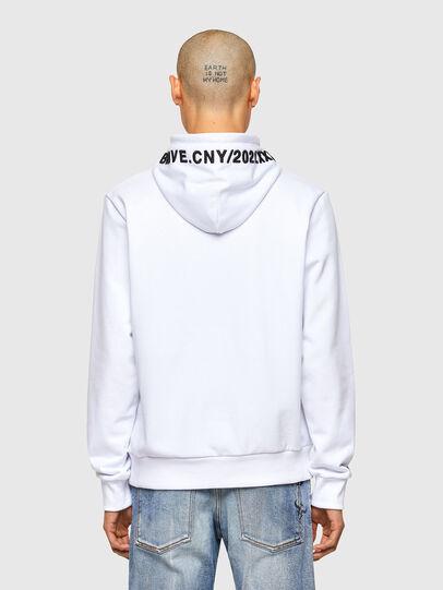 Diesel - CL-S-GIRK-HOOD-O, White - Sweatshirts - Image 3