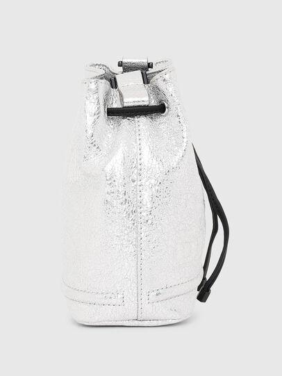 Diesel - BUCKETTINO, Silver - Crossbody Bags - Image 3