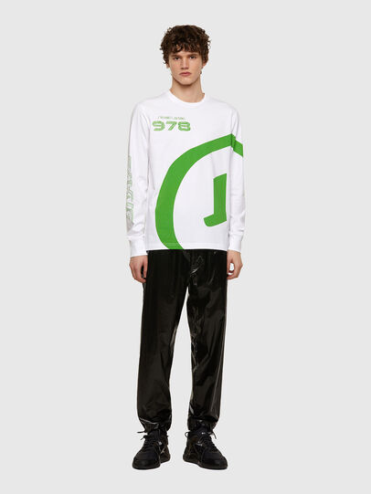 Diesel - T-JUST-LS-E2, White - T-Shirts - Image 4