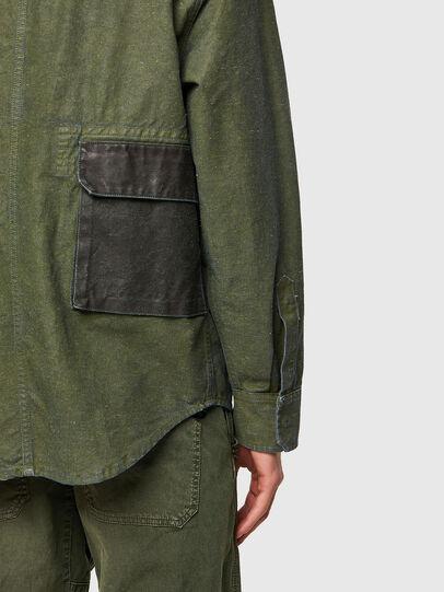 Diesel - D-CORU-SP, Verde Militar - Camisas de Denim - Image 4