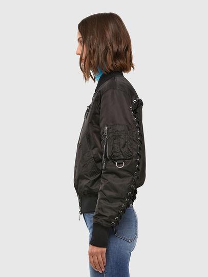 Diesel - W-SWING, Black - Winter Jackets - Image 3