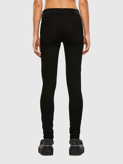 Diesel - Slandy Skinny Jeans 069EF, Black/Dark Grey - Jeans - Image 2