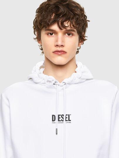 Diesel - S-GIRK-HOOD-SMALLOGO, White - Sweatshirts - Image 3
