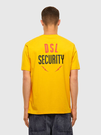Diesel - T-JUST-N41, Yellow - T-Shirts - Image 2
