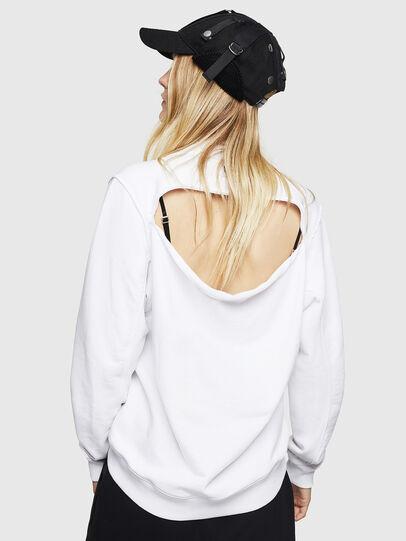 Diesel - F-LYANYDY-B, White - Sweatshirts - Image 2