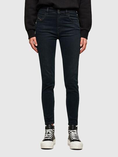 Diesel - Slandy High Skinny Jeans 009QG, Dark Blue - Jeans - Image 1