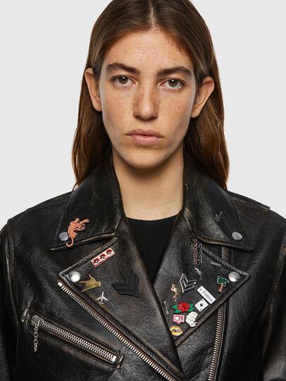 Diesel - L-EDMEA, Black - Leather jackets - Image 3