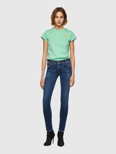 Diesel - Slandy Low Skinny Jeans 009ZX, Dark Blue - Jeans - Image 5