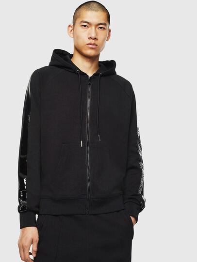Diesel - S-GIMK-HOOD-J, Black - Sweatshirts - Image 1