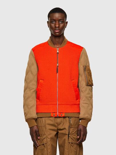 Diesel - K-OHIO, Brown/Orange - Jackets - Image 1