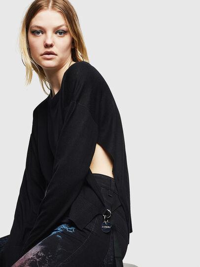 Diesel - M-PERLA, Black - Sweaters - Image 5