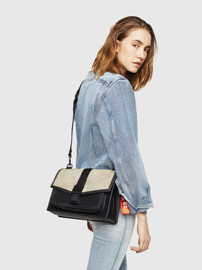 Diesel - MISS-MATCH CROSSBODY, Black/Grey - Crossbody Bags - Image 6
