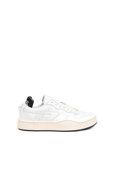 Leather low-top sneakers with D logo
