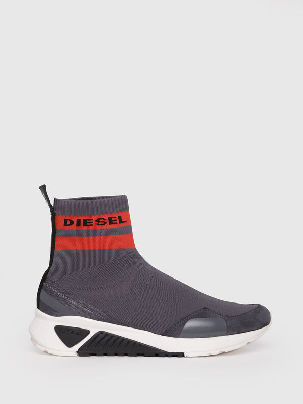 S-KB SOCK, Grey/Red - Sneakers