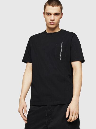 Diesel - T-JUST-POCKET-COPY, Black - T-Shirts - Image 1