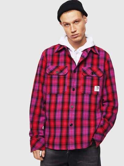 Diesel - S-GERRY-CHECK, Pink - Shirts - Image 1