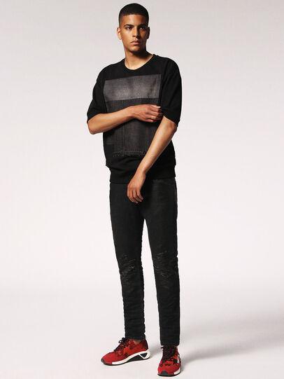 Diesel - Krooley JoggJeans 084JB, Black/Dark grey - Jeans - Image 5
