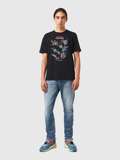 Diesel - T-JUST-B53, Negro - Camisetas - Image 4