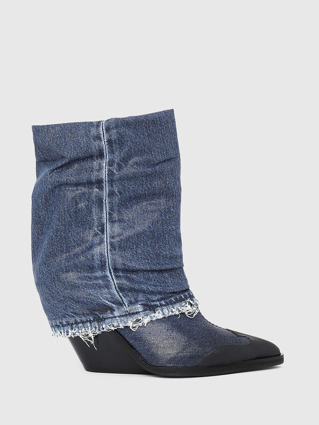 D-WEST MB, Blue Jeans - Ankle Boots