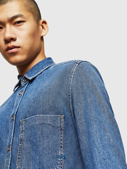 Diesel - D-BER-P, Medium Blue - Denim Shirts - Image 3