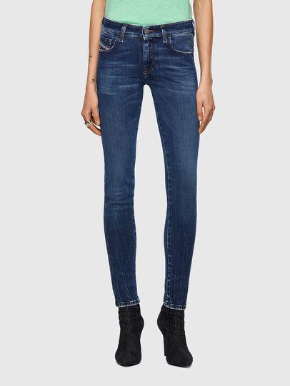 Diesel - Slandy Low Skinny Jeans 009ZX, Dark Blue - Jeans - Image 1