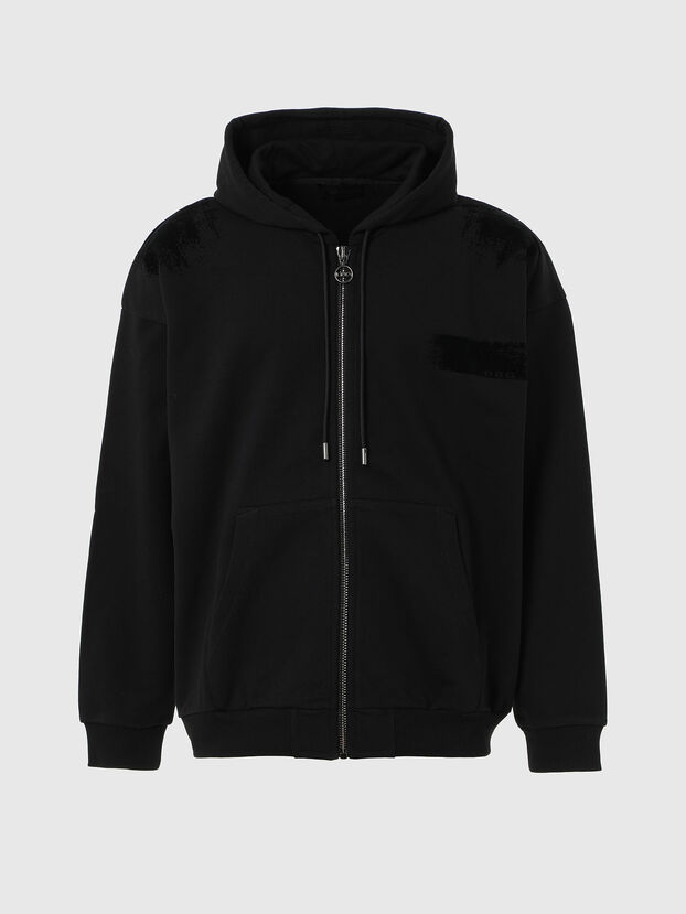 S-HENON-ZIP, Black - Sweatshirts