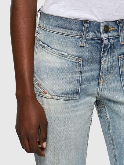 Diesel - D-Ebbey Bootcut Jeans 09A04, Light Blue - Jeans - Image 4