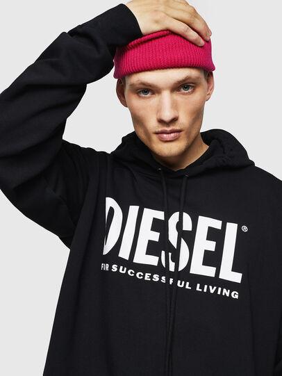 Diesel - S-DIVISION-LOGO, Black - Sweatshirts - Image 4
