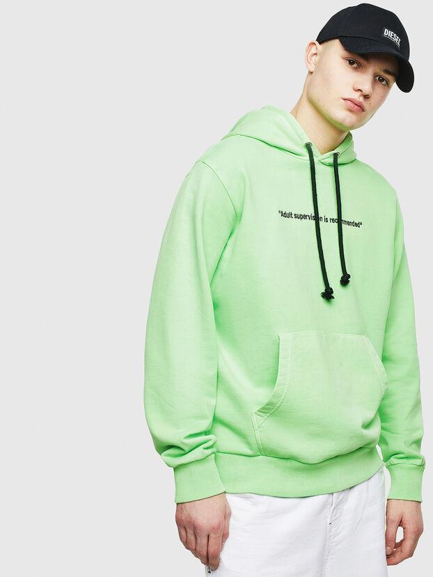 S-GIRK-HOOD-FLUO, Green Fluo - Sweatshirts