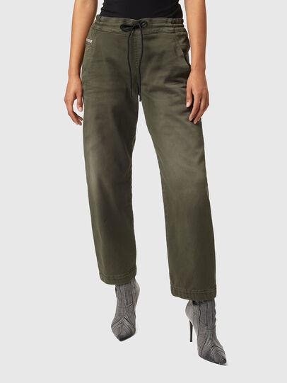 Diesel - Krailey Boyfriend JoggJeans® Z670M, Military Green - Jeans - Image 1
