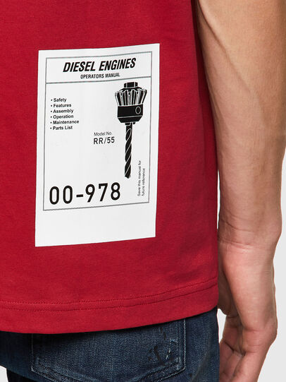 Diesel - T-JUST-B62, Brown - T-Shirts - Image 3