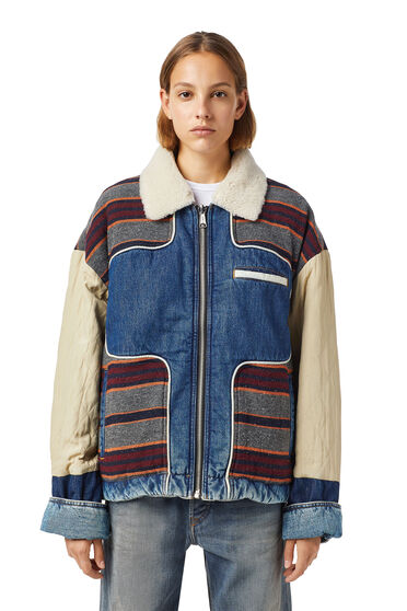 Reversible trucker jacket