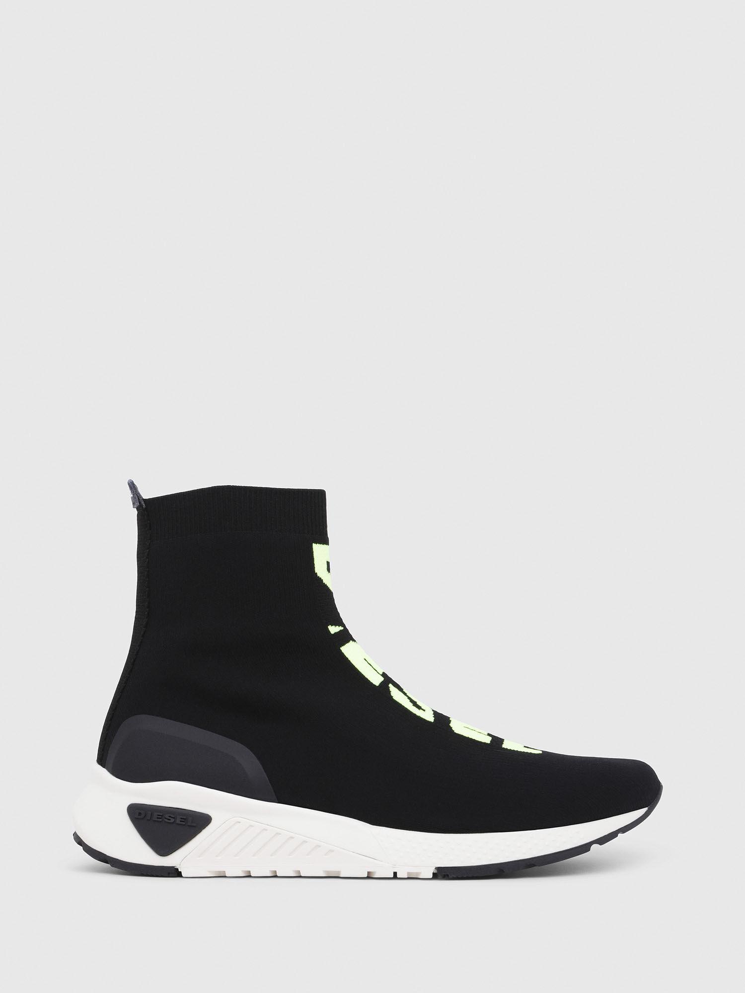 Diesel S-KB Mid Athletic Sock Mid Top Sock Sneakers with Logo Y01954-P2177