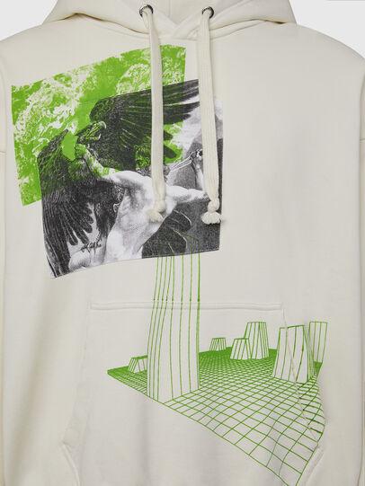 Diesel - S-ALBY-X2, White - Sweatshirts - Image 3