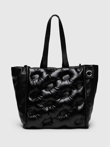 Large logo-quilted shopper