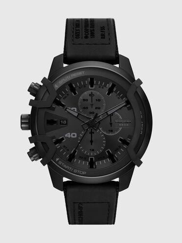Griffed chronograph black canvas watch