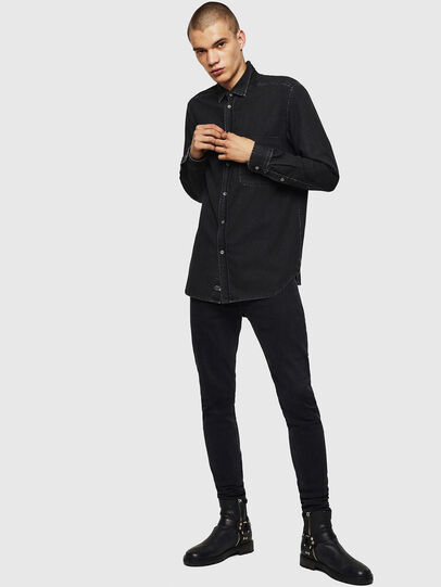 Diesel - D-BER-P, Black - Denim Shirts - Image 5