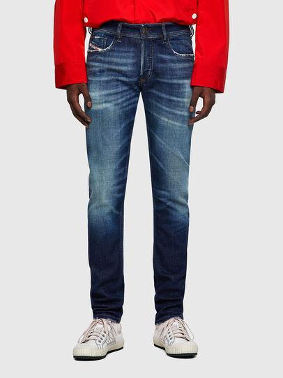 Diesel - Sleenker Skinny Jeans 09A27, Dark Blue - Jeans - Image 1
