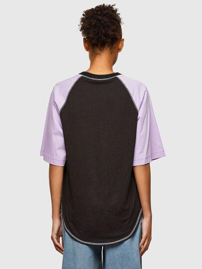 Diesel - T-SPO, Black/Violet - T-Shirts - Image 2
