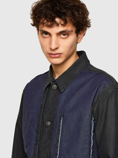 Diesel - D-ROKU-SP JOGGJEANS, Black/Blue - Denim Jackets - Image 3