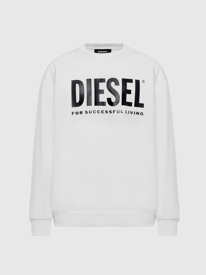 Diesel - S-GIR-DIVISION-LOGO, White - Sweatshirts - Image 1