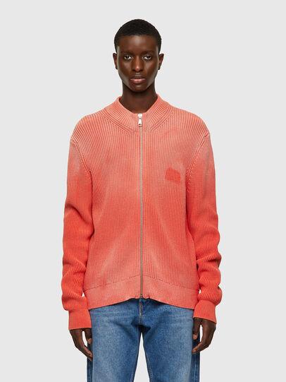 Diesel - K-KENTUCKY ZIP, Pink - Sweaters - Image 1