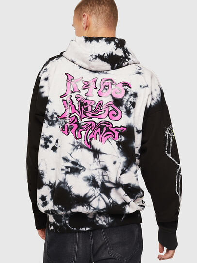 Diesel - S-ALBY-Y, Black/White - Sweatshirts - Image 3