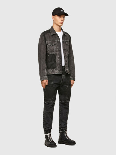 Diesel - NHILL-ROD-SP, Black - Denim Jackets - Image 6