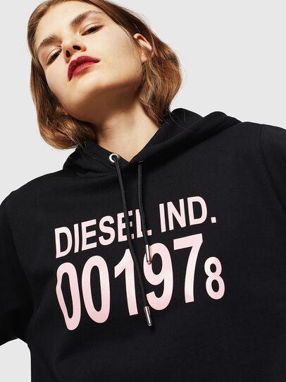 Diesel - F-ANG-HOOD-J1, Black - Sweatshirts - Image 3