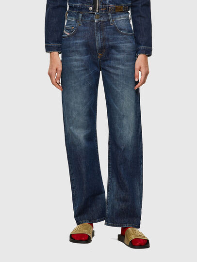 Diesel - D-Reggy Straight Jeans 09A06, Dark Blue - Jeans - Image 1